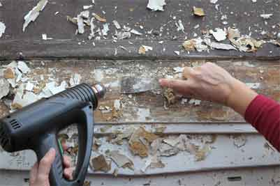 How to use remove chalk paint from wood