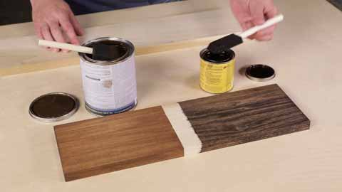 Apply Stain in a Well-Ventilated Outdoor Area