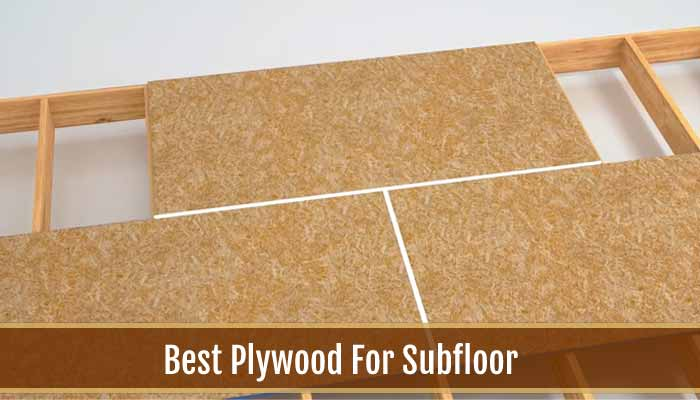 Plywood For Subfloor