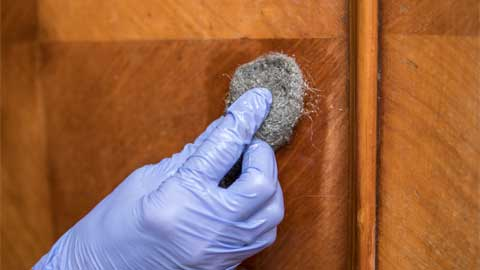 Clean the Wood with Denatured Alcohol