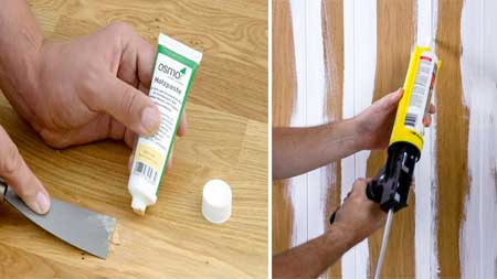 When to Use Wood Putty than Wood Filler and Caulk
