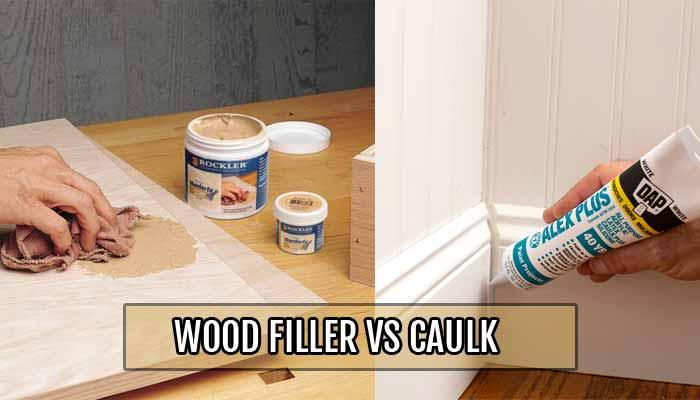 Wood Filler VS Caulk