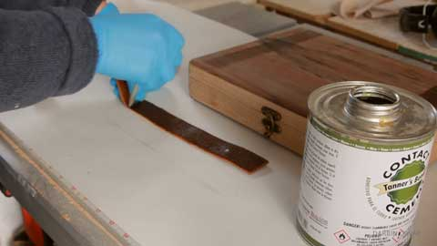 Instructions on How to Glue Leather to Wood